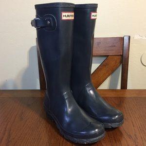 Hunter Rain Boots Unisex Blue 4M/5F YNGORG W23500